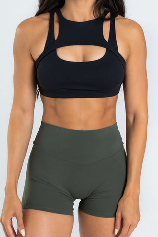 Harness Black Sports Bra