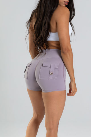 Lilac Pocket Shorts