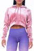 Valensole pink cropped hoodie