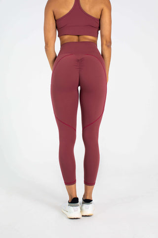 Wine Scrunch Legging
