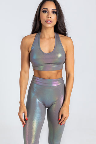Unicorn Grey Sports Bra