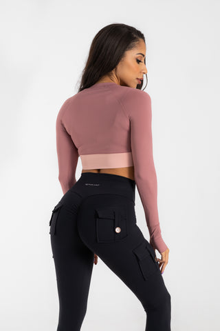 Pink Lightweight cropped top