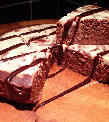 Chocolate Maple Protein Cheesecake Brownie