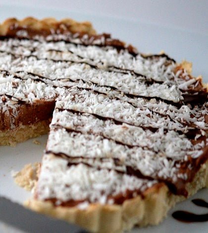 Chocolate Coconut PB Protein Tart|Chocolate Coconut PB Protein Tart