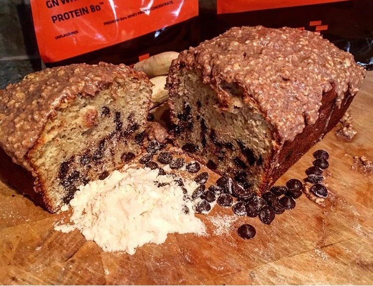 High Protein Banana Chocolate Peanut Butter Loaf