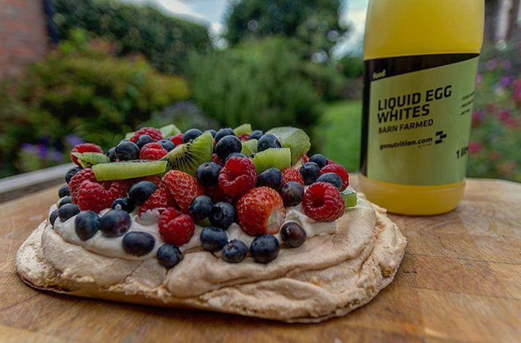 Mixed Summer Berry Protein Pavlova
