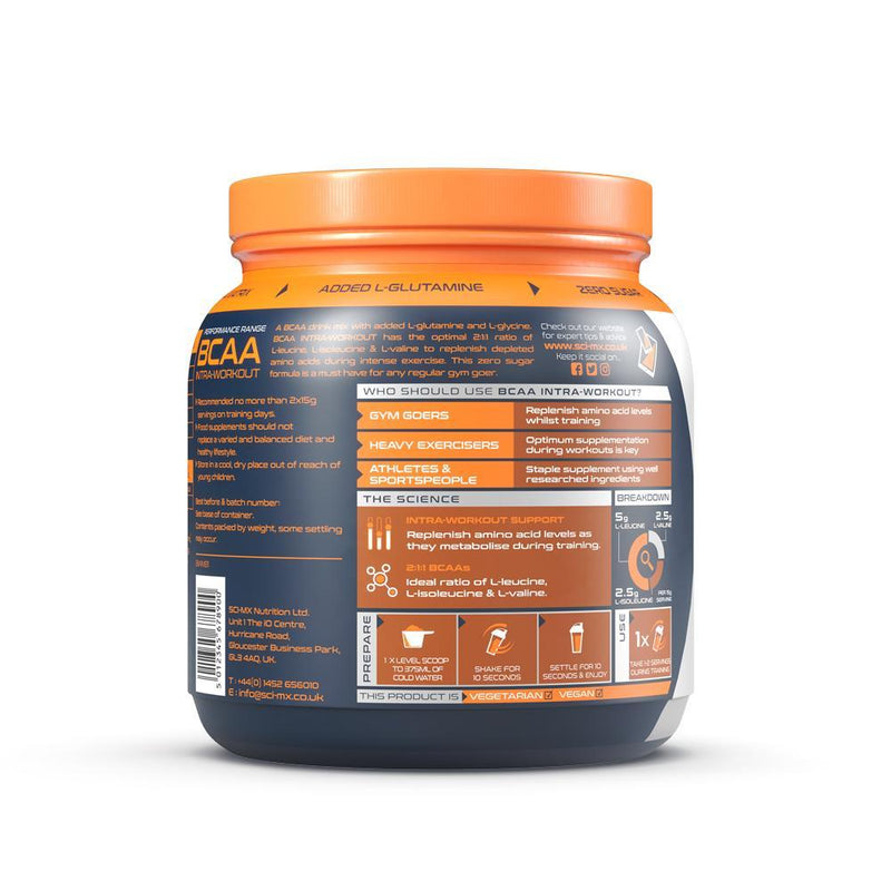 SCI-MX BCAA INTRA HARDCORE 480G MIXED BERRY Packungsbeilage