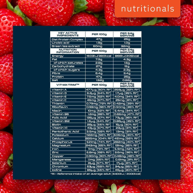 SCI-MX DIET PRO MEAL 1KG STRAWBERRY Nutritionals