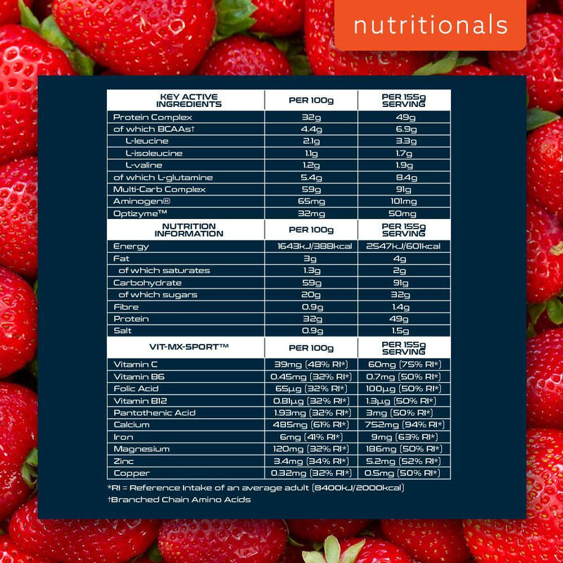 SCI-MX MUSCLE MEAL HARDCORE 2.17KG STRAWBERRY Nutritionals