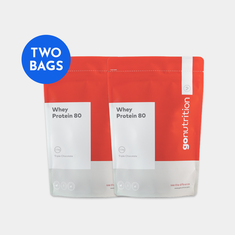 Whey Protein 80 - Chocolate - 2x 2.5kg Bags