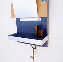 Load image into Gallery viewer, Close up shot of the dark blue mail holder.