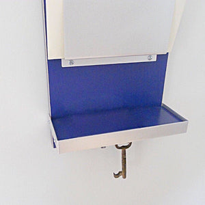 Double mail holder with the Wink colorway, which is a deep blue color.