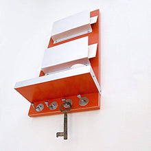 Load image into Gallery viewer, Shot from below of a wall mounted double mail holder.