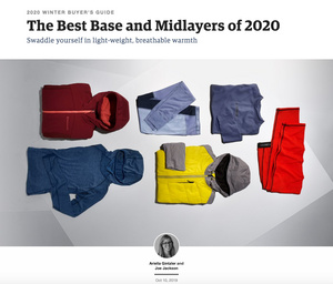 "Outside Magazine's ""The Best Base and Midlayers of 2020"""