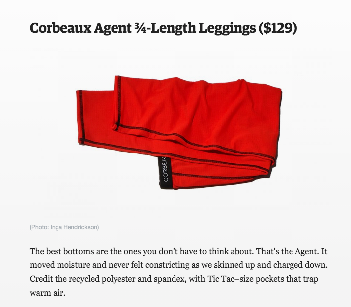 Outside Magazine review of the Agent 3/4-Length Pant