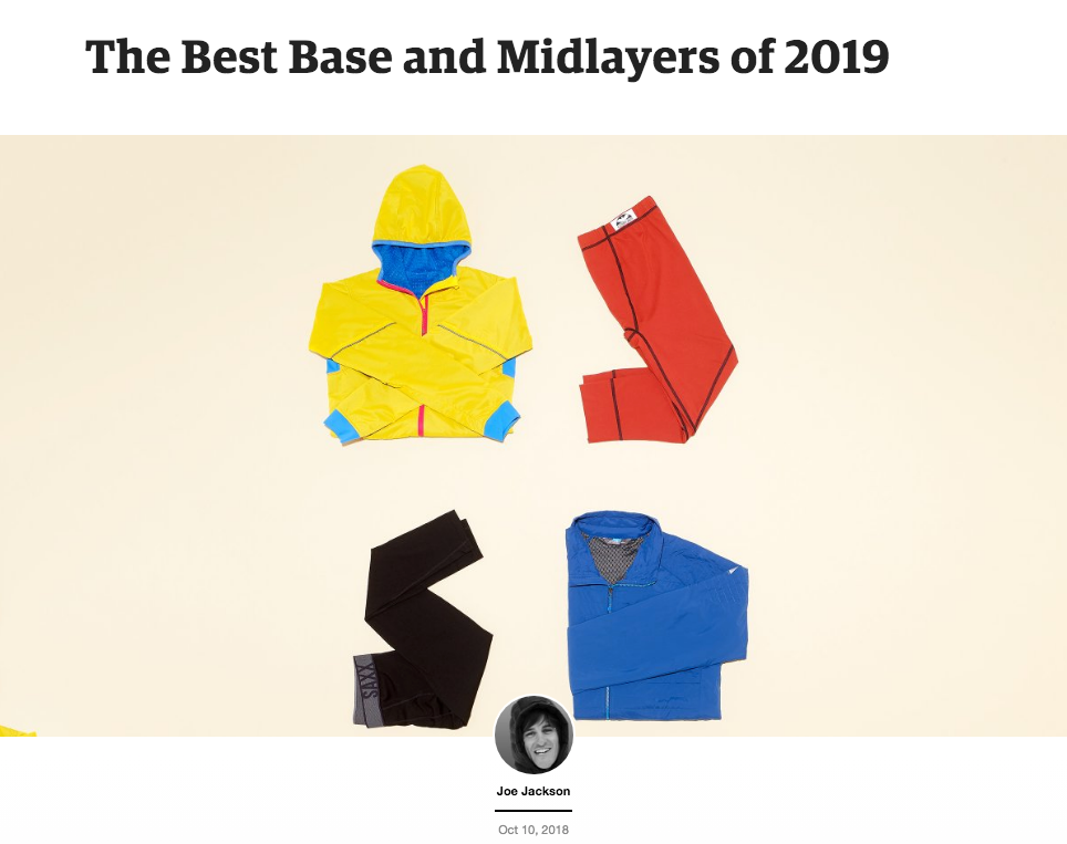 Outside Magazine's Best Base and Midlayers of 2019