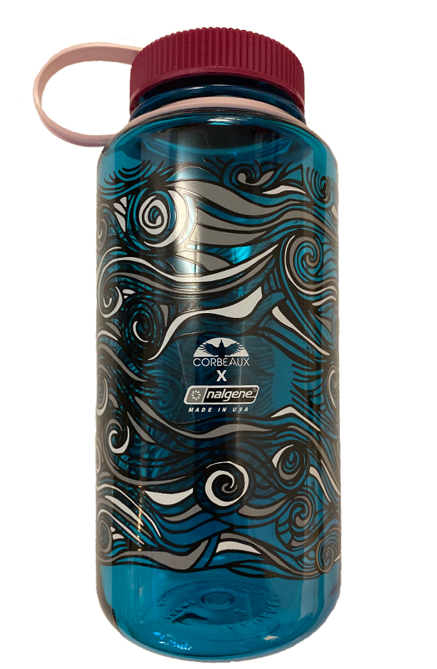 Limited edition Nalgene bottle in Turquoise with Pink top