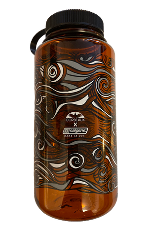 Limited Edition Nalgene bottle in Orange with Black top