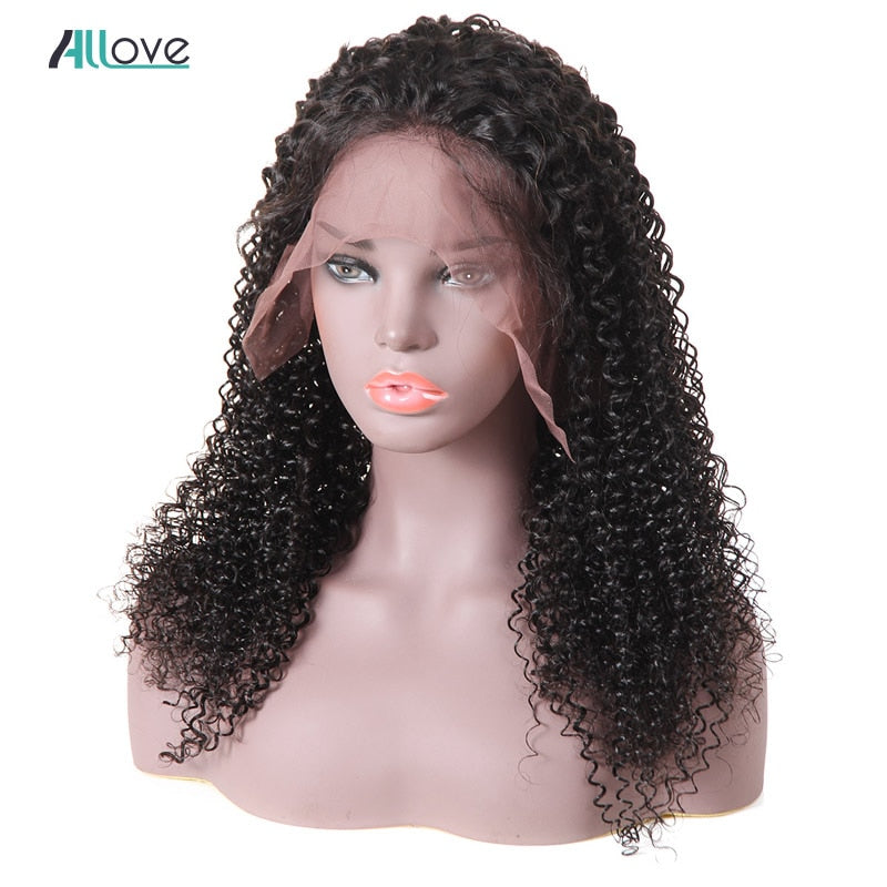 Royal Swan Curly Human Hair Wigs With Baby Hair Bleached Knots 8-24 Brazilian Remy 13*4 Lace Frontal Wigs Pre-Plucked 180% Density.