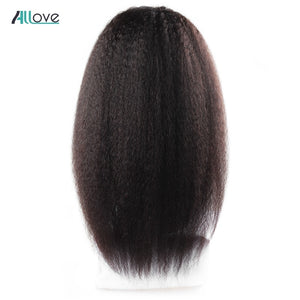 Royal Swan Yaki Lace Front Human Hair Wigs 360 Lace Frontal Wigs 150% Density For Black Women Brazilian Remy Hair 360 Lace Wigs