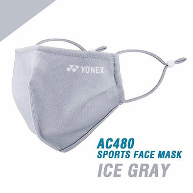YONEX ICE GREY FACE MASK - WASHABLE
