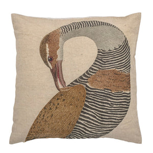 Linen Bird Pillow