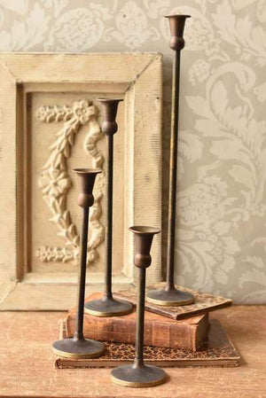 Antique Brass Finish Candlestick