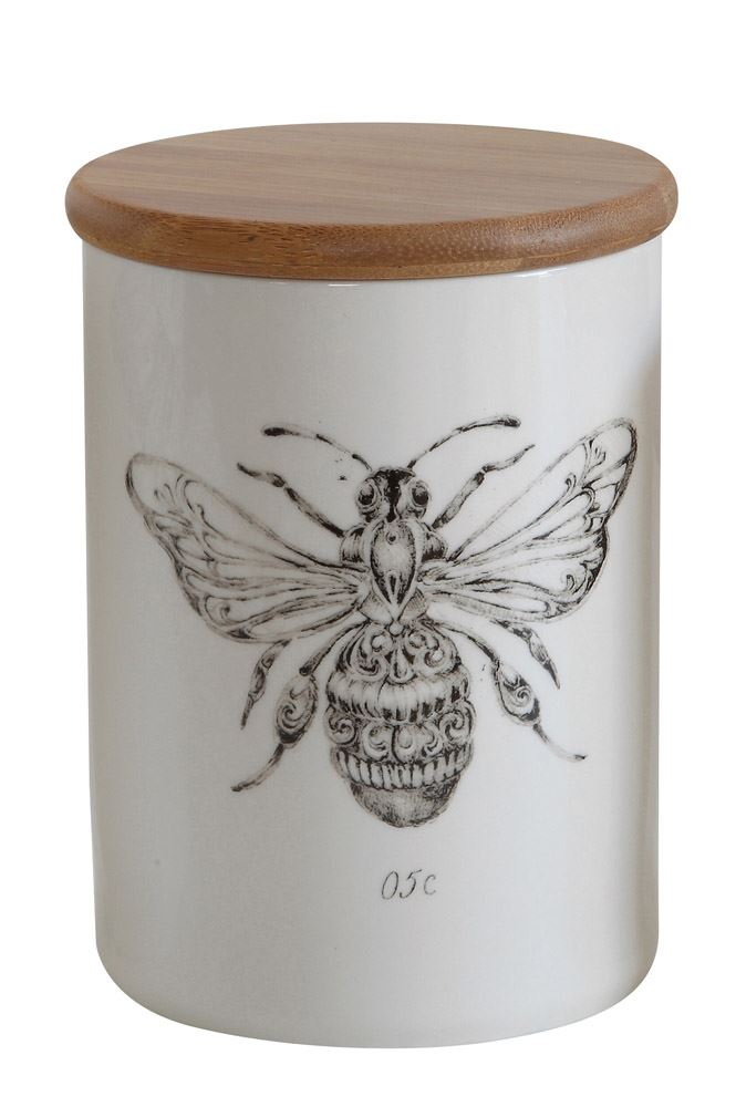 Honey Bee Stoneware Jar