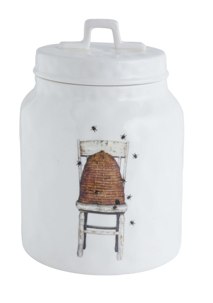 Stoneware Bee Hive Canister
