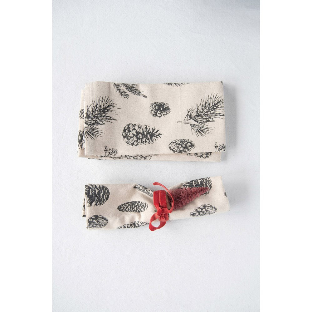 Set of 4 Pinecone Napkins