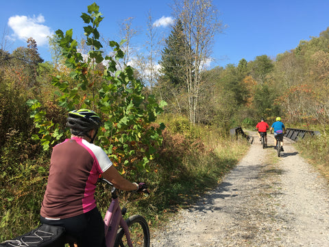 Exploring backroads on Ebikes is fun for the whole family