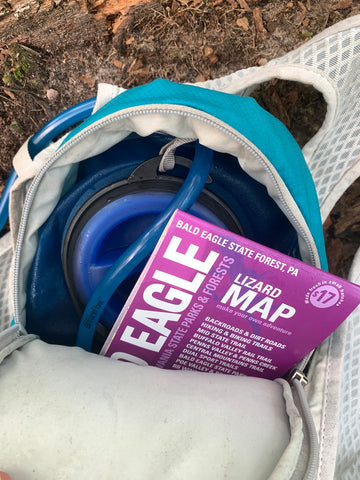 Water Pack & Map for Day Hiking/ Trail Running