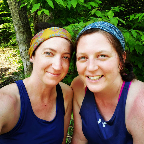 Kathleen Andspach and Friend Liz - Hiking The Loyalsock Trail in PA