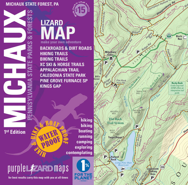 Michaux Lizard Map Michaux State Forest PA