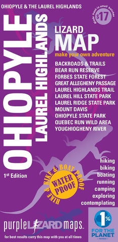 Ohiopyle-Laurel HIghlands PA Lizard Map