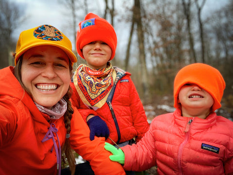What to wear when winter hiking with kids