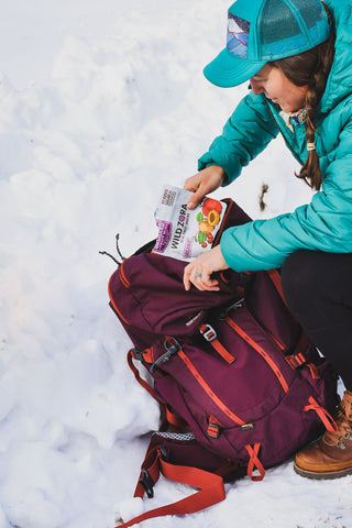Pack the snacks when hiking with kids