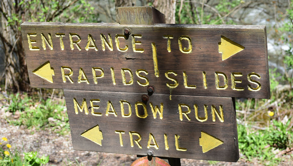 meadow run trail ohiopyle natural slides laurel highlands