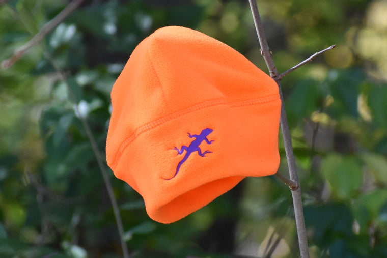 Lizard Screaming Warning Orange Fleece Hat