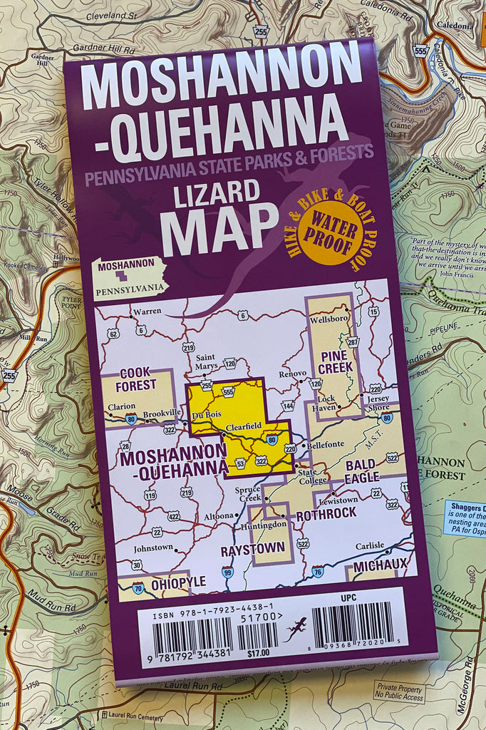 NEW: Moshannon-Quehanna Lizard Map, Pennsylvania