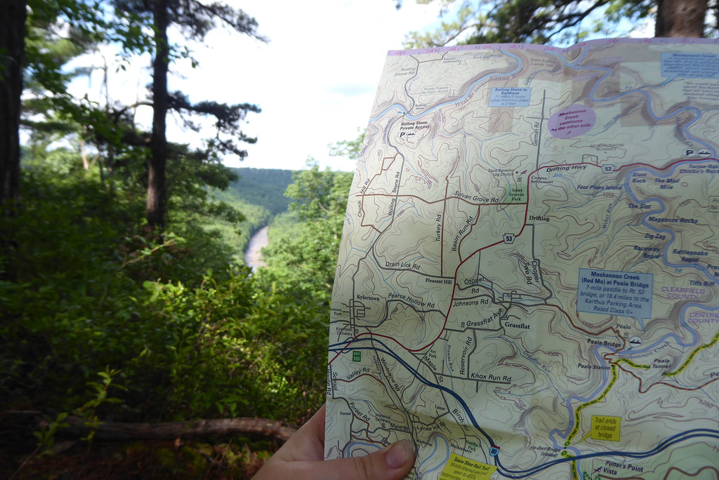 Moshannon Quehanna Purple Lizard Recreation Map