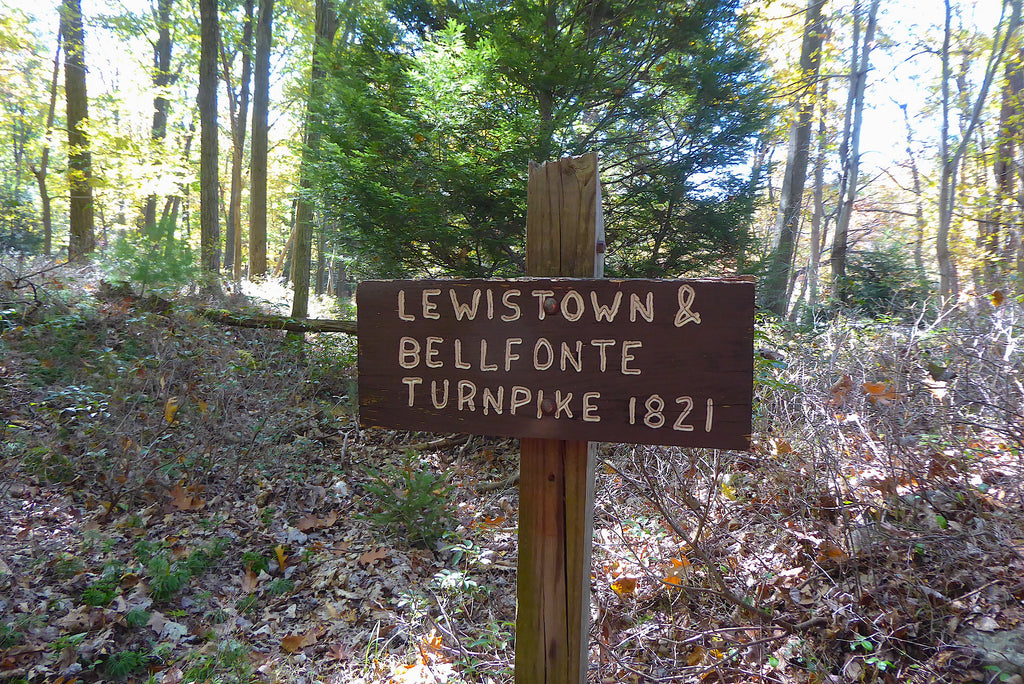 Lewistown Bellefonte Turnpike 1821 Bald Eagle State Forest