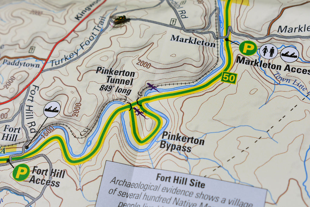 Ohiopyle Laurel Highlands Purple Lizard Recreation Map