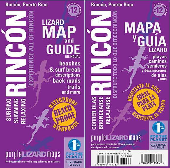 Rincón Puerto Rico: Lizard Map Most Comprehensive Guide to Rincon - Surfing and Beach guide to all things Rincon, PR