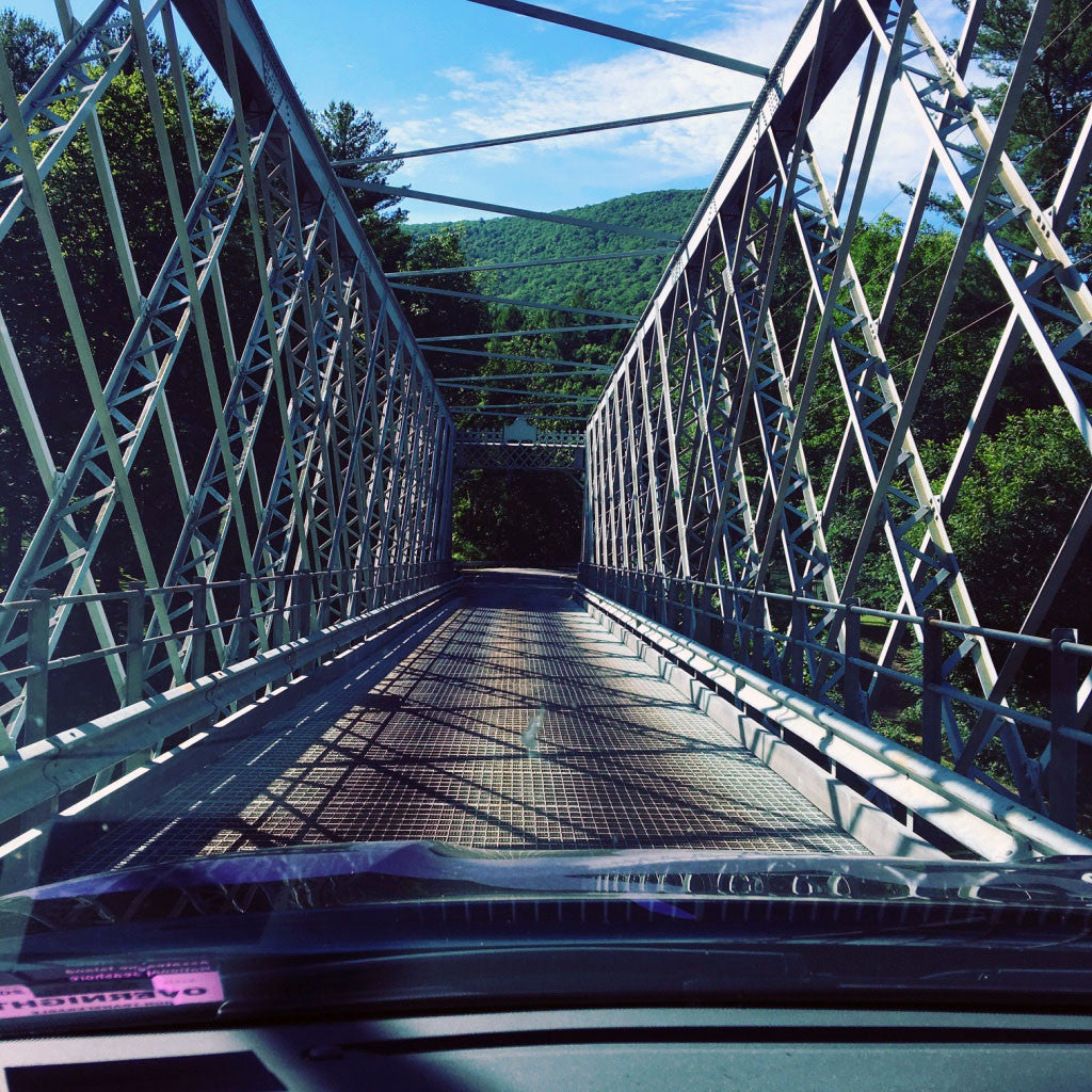 Pine Creek PA: Bridges over Pine Creek Photo Purple Lizard Maps