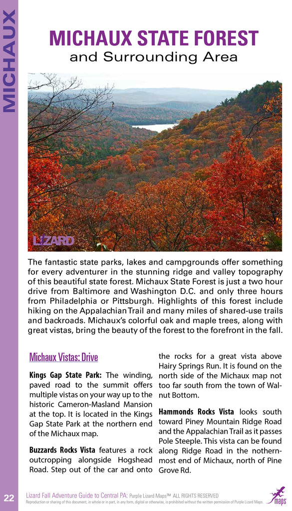 Purple Lizard Pennsylvania Fall Adventure Guide