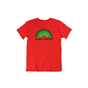 Well Cartel Rainbow Logo T-Shirt Red