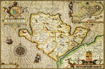 Anglesey 1610 Historical Map 300 Piece Wooden Jigsaw Puzzle