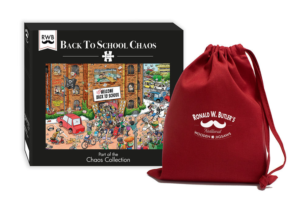 Back to School Chaos 300 Piece Wooden Jigsaw Puzzle