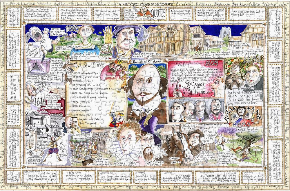the bard tim bulmer 300 piece wooden jigsaw puzzle